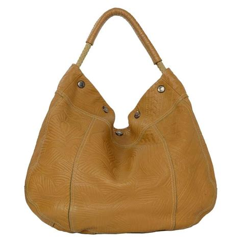 Prada Cocoa Leather Frame Top Medium Shoulder Bag by Prada Embossed Leather Hobo Shoulder Bag Ghw For Sale