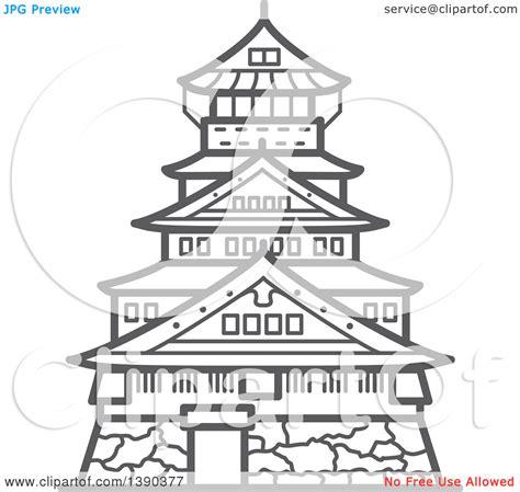 osaka castle coloring page osaka castle clipart clipground