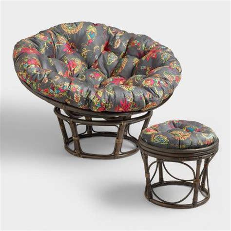 porcelain micro suede papasan chair cushion world market antigua micro suede papasan chair cushion world market