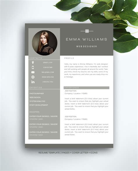 Instant Business Letter Kit resume template 3 page cv template cover letter