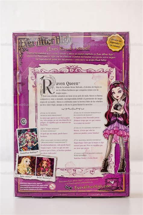 libro high stand rese 241 a mu 241 eca ever after high raven queen hija de la reina malvada