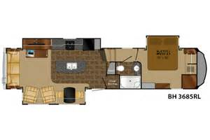 Bighorn Floor Plans 2015 Bighorn 3685rl Floor Plan 5th Wheel Heartland Rv