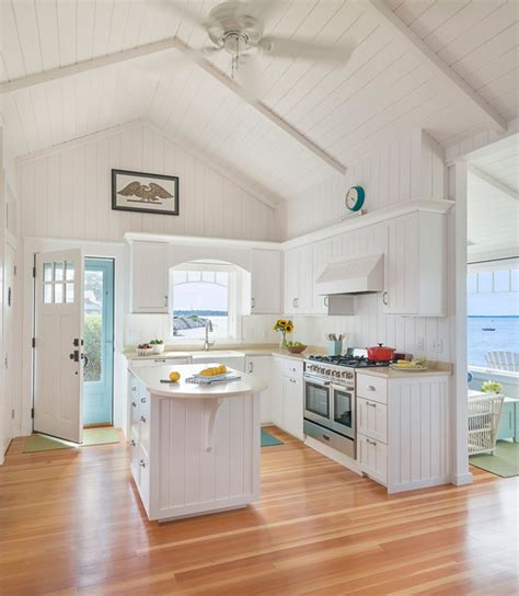 small cottage kitchen design ideas small beach cottage with inspiring coastal interiors