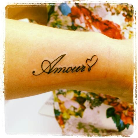 french wrist tattoos amour for wrist tattoos