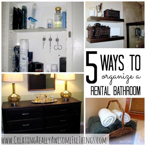 rental home decorating ideas 5 ways to organize your rental bathroom aptsforrent