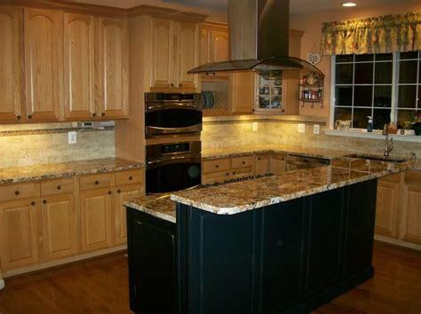 best hardware for medium oak cabinets oak kitchen cabinets black island design ideas