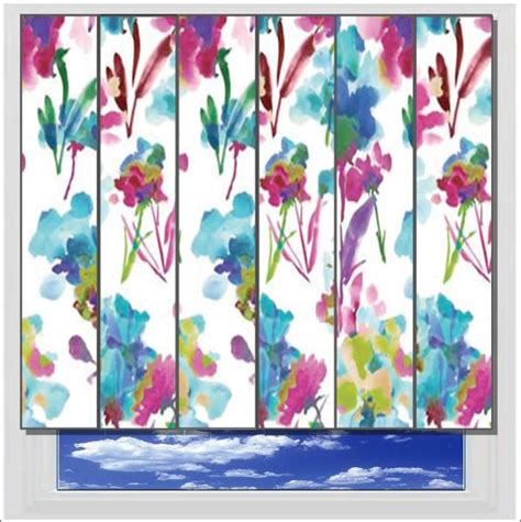 pattern fabric vertical blinds liberty azalea vertical blind printed and patterned