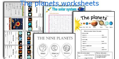 Planets Printable Worksheets