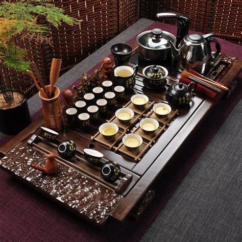 Sale Solid Wood Tea Tray Kungfu Tea kung fu tea set yixing teapot tureen electromagnetic furnace solid wood tea tray ceramic
