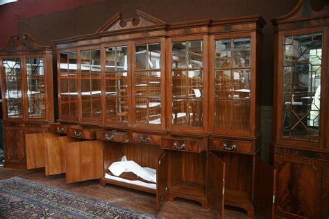 Used China Cabinets And Hutches Large Mahogany China Cabinet Six Door Breakfront Ebay