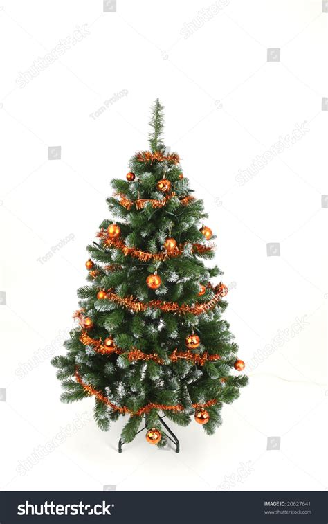 simply decorated christmas trees simply decorated tree stock photo 20627641