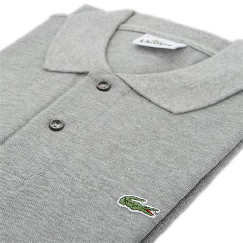 Polo Basic Grey Lacoste lacoste l1264 grey marl plain polo oxygen clothing