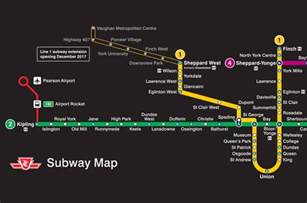 the ttc shows new subway route map