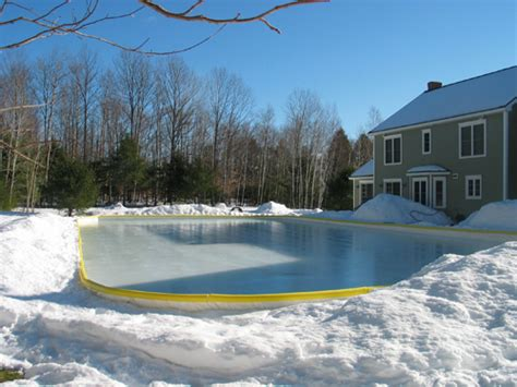 backyard ice rink kit nicerink 26 x76 backyard hockey ice rink kit