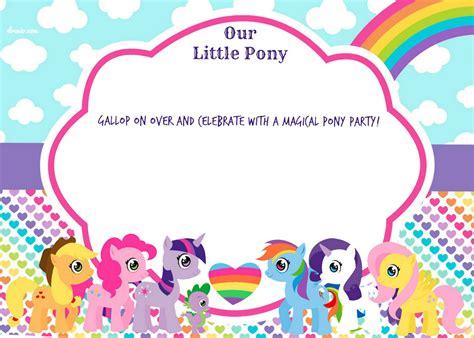 pony invitation card template free printable my pony birthday invitation template