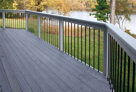 gray deck post caps like these would do the trick both at rona