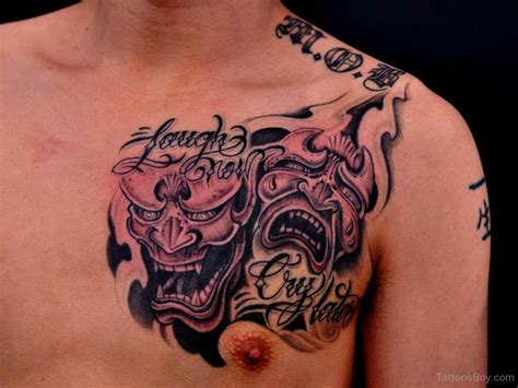 devil angel tattoo vs chest www pixshark images