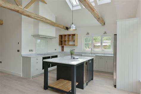 shaker style kitchen  barn conversion luxmoore