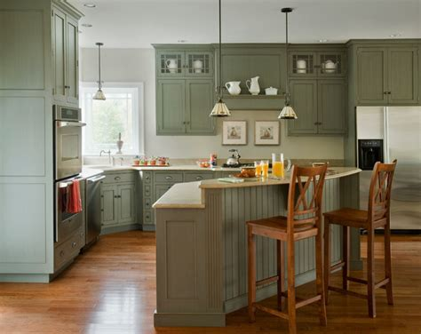 Kitchen Triangle With Island Heartwood Kitchens 2 Traditional Kitchen Boston By Quality Custom Cabinetry Inc