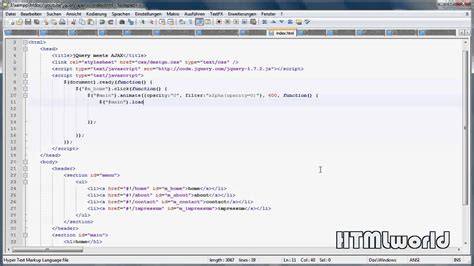 jquery tutorial for ajax jquery tutorial dynamische inhalte laden mit ajax de