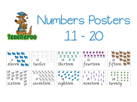 printable number flash cards 11 20 6 best images of large printable numbers from 11 20