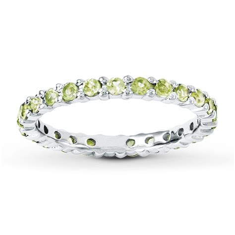 Peridot Rings by Stackable Ring Peridot Sterling Silver