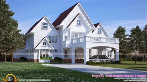 home design american style american style house in kerala kerala home design and