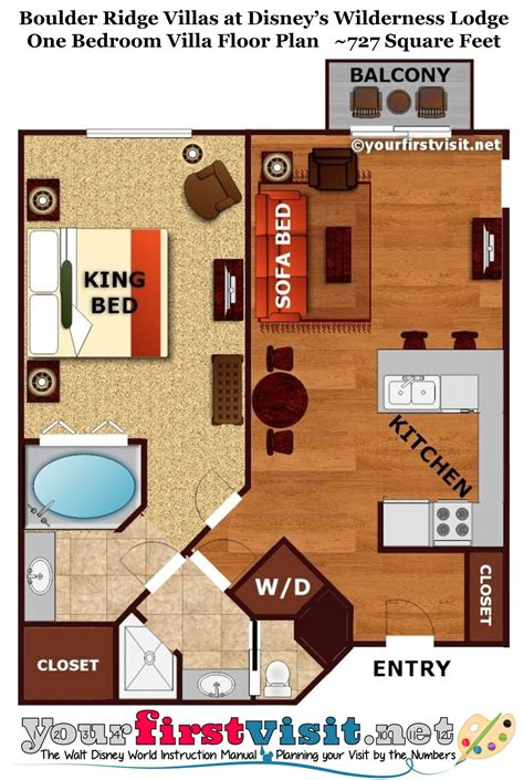 boardwalk villas one bedroom floor plan copper creek villas at disney s wilderness lodge