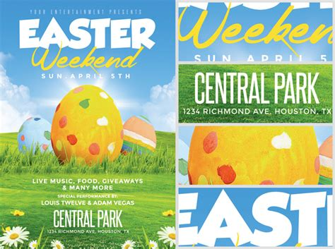 easter flyer template easter weekend flyer template 2 flyerheroes