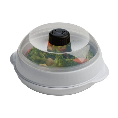 vegetable steamer pot plastic plated white black microwave vegetable steamer cooker rice pan pot dish ebay