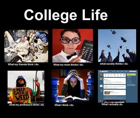 What My Friends Think I Do Meme - what my friends think i do college life what my friends