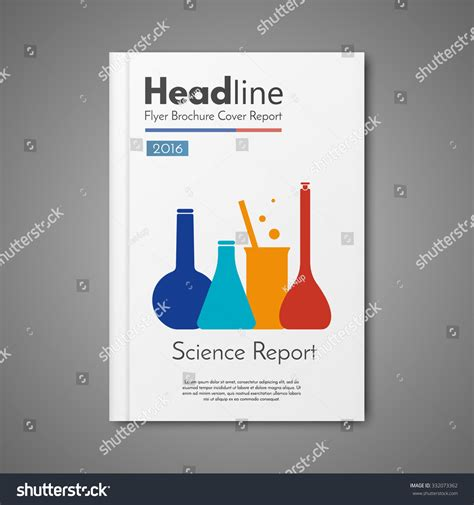 design science journal science laboratory design vector template layout for