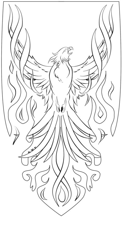 Coloring Pages Phoenix Bird | free coloring pages of phoenix cartoon