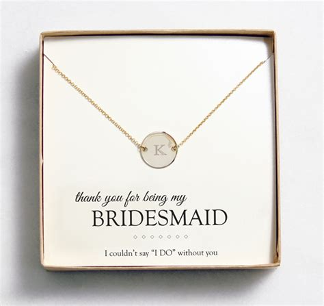 Wedding Gift Jewelry Ideas by Bridesmaid Gift Idea Customizable Jewelry From Wedding