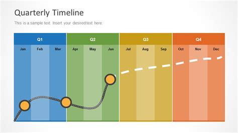design quarter management quarterly timeline template for powerpoint slidemodel