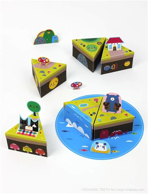 Readymechs Toys Designed To Print And Build At Home by Paper Island Crowded Teeth Illustration Free Printable