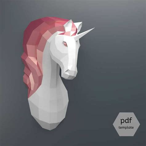 3d Papercraft Templates - 3d paper craft origami lets you build animal to hang
