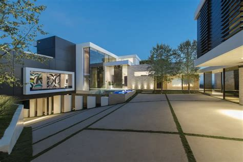 extravagant contemporary beverly hills mansion