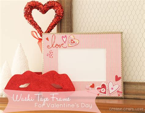 valentines day picture frame washi frame for s day