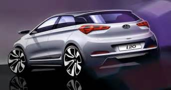 new hyundai i20 car images new hyundai i20 looks in official drawings