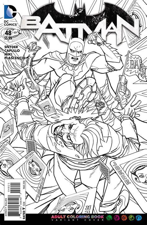 coloring pages for adults batman previewsworld batman 48 coloring book var ed