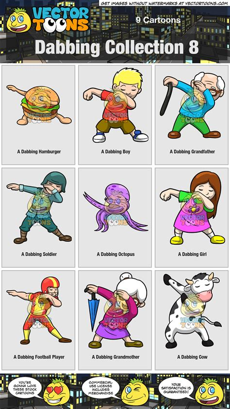 clipart collection dabbing collection 8 clipart by vector