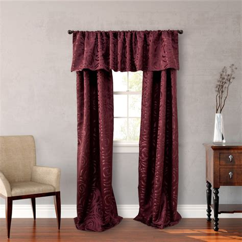 nicole miller drapes nicole miller red polyester 84 inch madison 4 piece lined