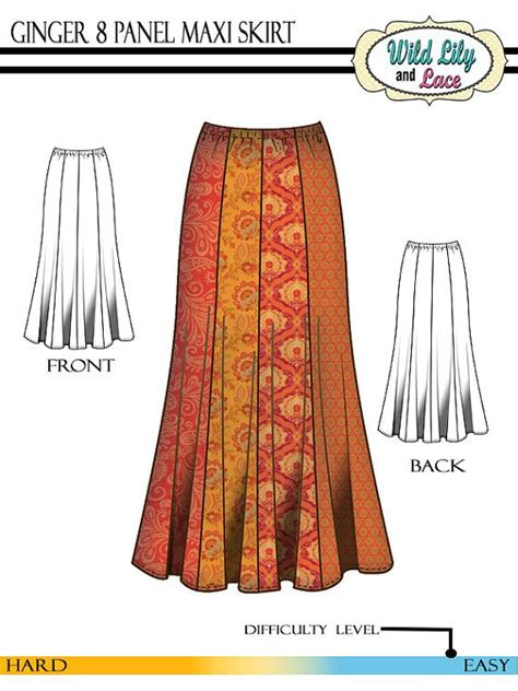 pattern for a line maxi skirt maxi skirt pattern 303 ginger maxi and short skirt pattern