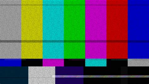 test pattern noise bad digital video signal with flickering and noise over