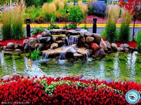 Swimming Pool House Plans by Beautiful Flower Gardens Waterfalls Kyprisnews
