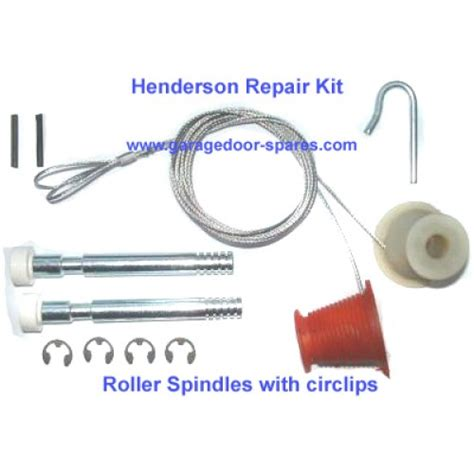 henderson garage door cones cables roller spindles