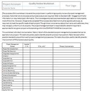 quality assurance spreadsheet template perform quality assurance templates project management