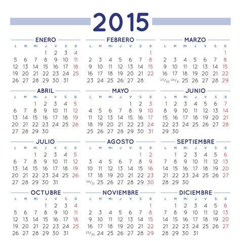 Calendario Hoy 2015 Calendario 2015 Para Imprimir