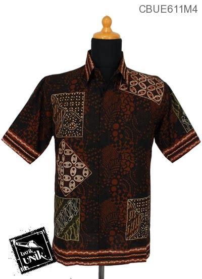 Atasan Batik Katun Motif Kotak Ll Lengan Pendek Ll Murah kemeja batik ekslusive motif kotak batik kemeja lengan